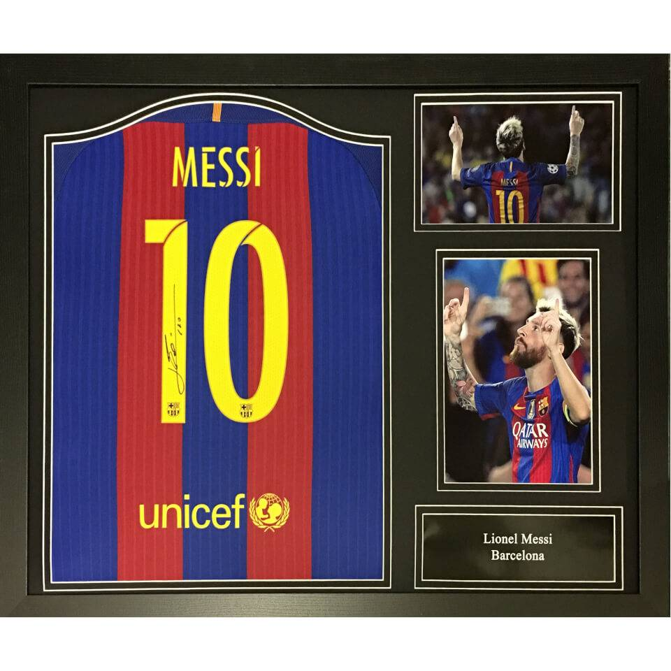 All Star Signings Lionel Messi Signed and Framed Barcelona Shirt