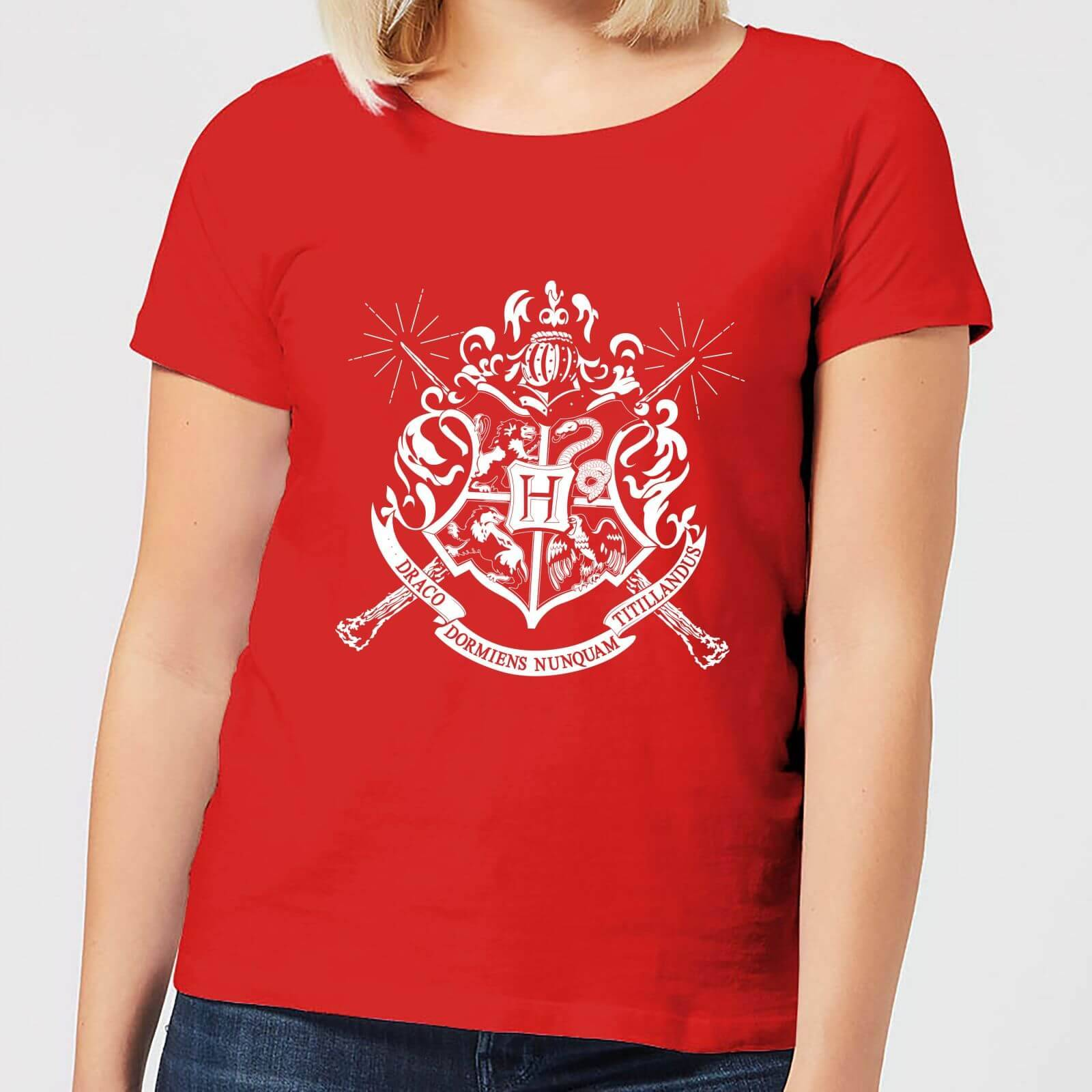 Harry Potter Hogwarts House Crest Women's T-Shirt - Red - S - Red