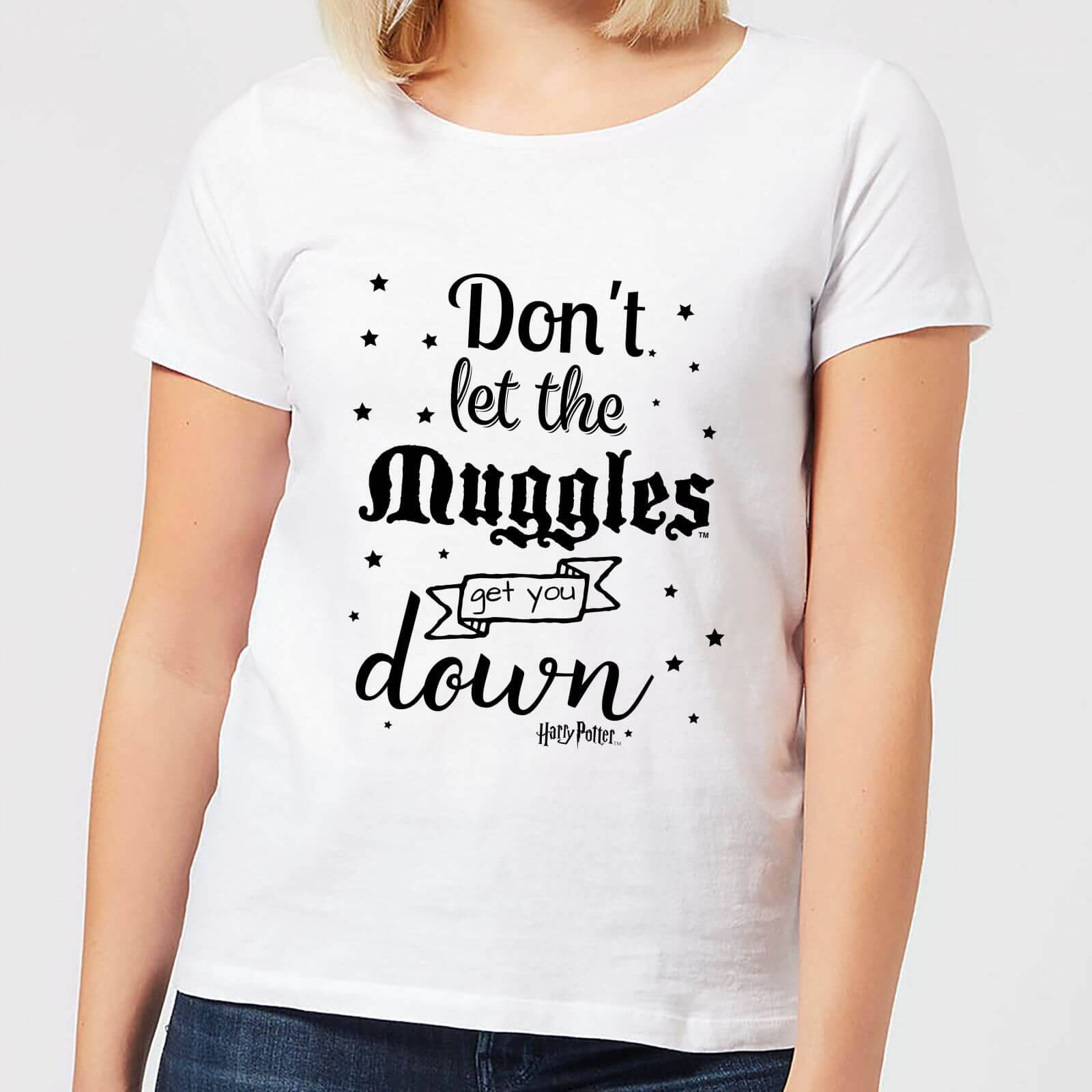 Harry Potter Don't Let The Muggles Get You Down Women's T-Shirt - White - M - White