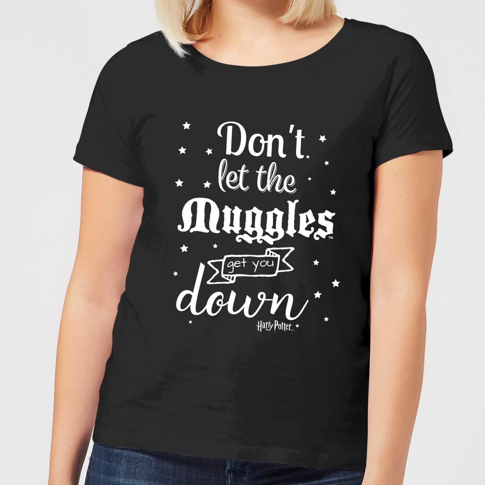 Harry Potter Don't Let The Muggles Get You Down Women's T-Shirt - Black - L - Black