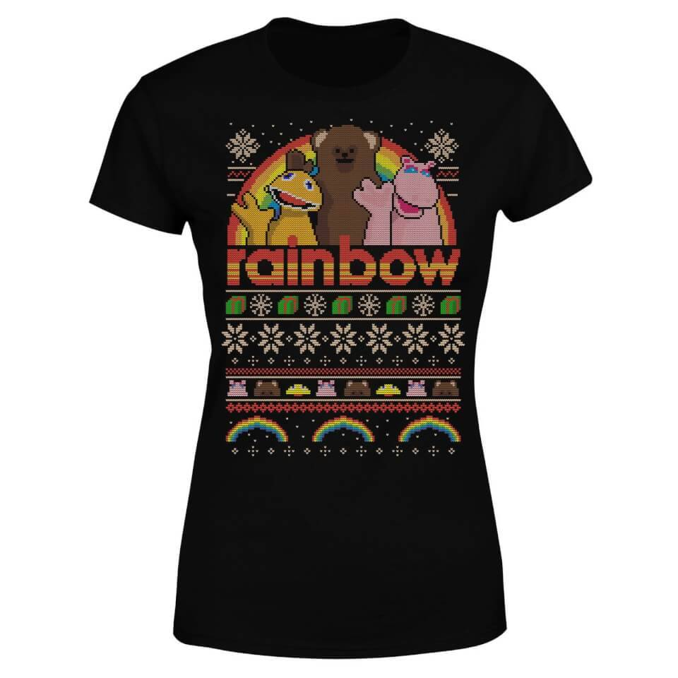 Rainbow Christmas Women's T-Shirt - Black - 4XL - Black