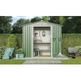 Garden Sheds Groupon Goods Deluxe Apex Metal Shed 7 X 4.2ft With Foundation  Kit: