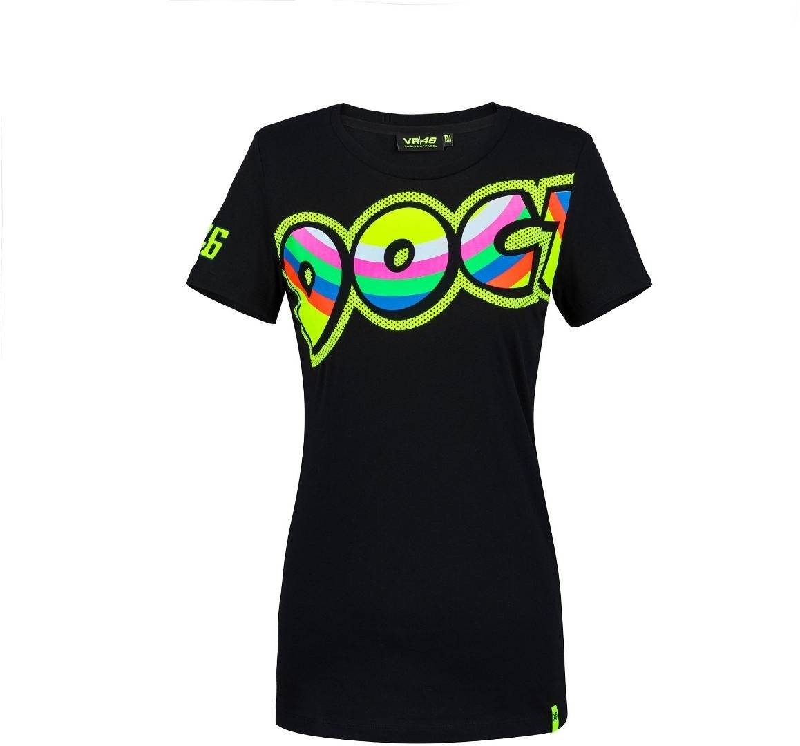 VR46 The Doctor Women's T-Shirt Black Yellow XL