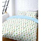 New Look White Cactus Print Double Duvet Set New Look (Sizes: One size)
