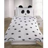 New Look Black Panda Single Duvet Set New Look (Sizes: One size)