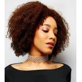 New Look Silver Diamante Wide Choker New Look (Sizes: One size)