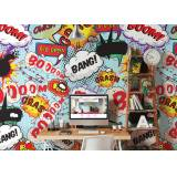 Graham & Brown Kissing Pop Art Comic Wall Mural