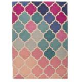 Flair Rugs Rosella pink and blue rug 80x150cm